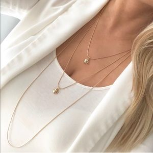 Express gold dot layered necklace
